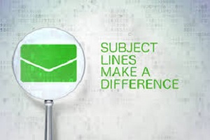 Email marketing tips. The subject line