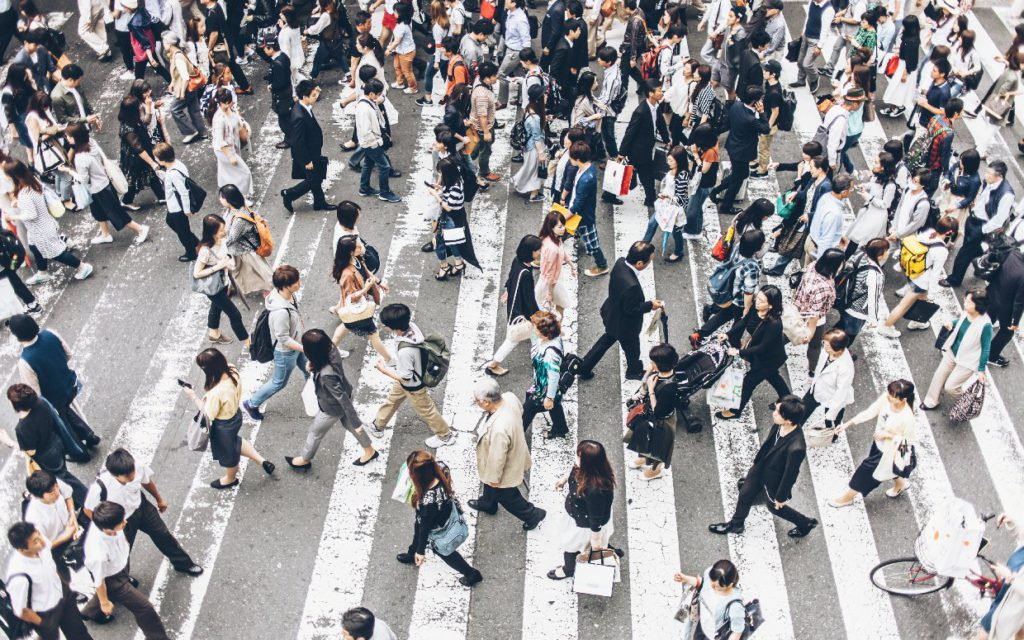 business incentives and people walking to them